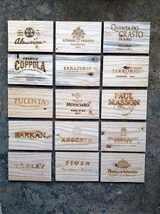 Rótulos de Vinho (Tamanho P)