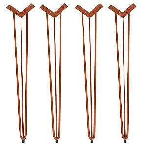 4 Hairpin Legs Coloridos 74cm com Pés de Borracha