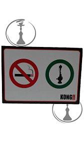 Placa Kong Clean - Proibido Cigarro