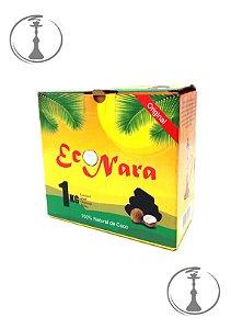 Carvão de Coco Econara Hexagonal - 1KG