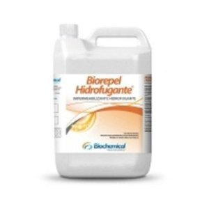 BIOREPEL HIDROFUGANTE Galão 5 Lts - Produto para Impermeabilizar tijolo aparente, concreto aparente, Lajotas - Biochemical