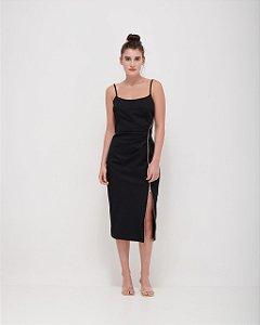 Dress Fenda com Zíper em Sarja