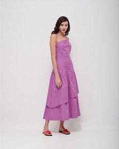 Vestido Mídi Showskin em Tricoline Premium