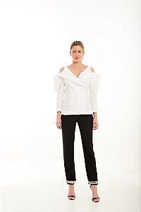 Camisa Feminina Desejos com Abotoamento Duplo
