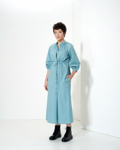 Vestido Chemise em Tricoline