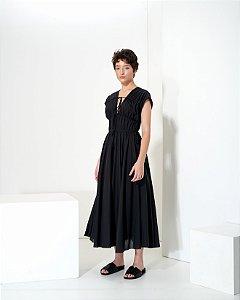Vestido em Voil com Textura