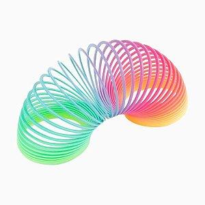 Brinquedo Mola Maluca Grande Multi-Color Arco-Iris Unidade