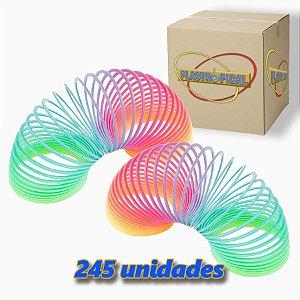 Caixa de Mola Maluca Grande Multi-Color Arco-Iris c/ 245 Unidades