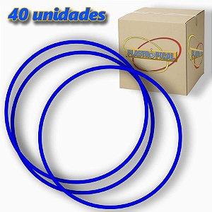 Caixa de Bambolê Infantil Plastico Reforçado Azul Escuro 50cm C/ 40 Unidades