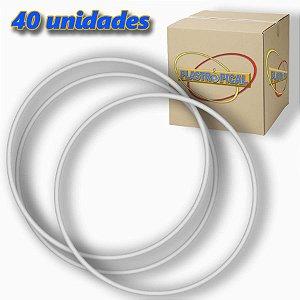 Caixa de Bambolê Infantil Plastico Reforçado Branco 50cm C/ 40 Unidades