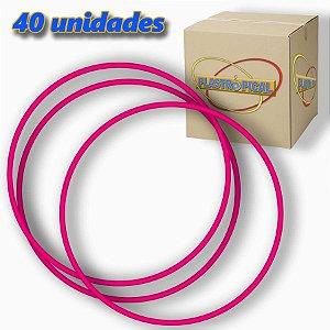 Caixa de Bambolê Infantil Plastico Reforçado Rosa Escuro 50cm C/ 40 Unidades