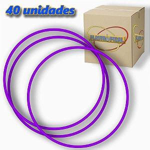 Caixa de Bambolê Infantil Plastico Reforçado Roxo 50cm C/ 40 Unidades