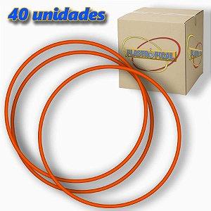 Caixa de Bambolê Grande Plastico Reforçado Vermelho 65cm C/ 40 Unidades