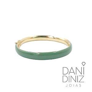 Bracelete esmaltado verde militar Roberta