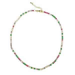 Choker Riviera Rainbow Candy Colors Leticia