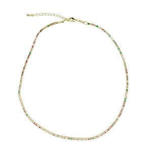 Choker Riviera Rainbow Candy Colors Manu