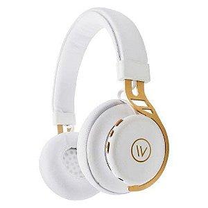 Fone De Ouvido Headphone Bluetooth Iwill Elite Branco/Dourado