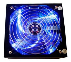 Fonte Atx Gamer 500w Reais Real Led Azul 24 Pinos Bivolt
