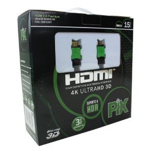 Cabo Hdmi 15m 2.0 19 Pinos Ethernet 15 Metros 4k Ultra Hd 3d