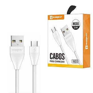 CABO MICRO USB CARREGAMENTO E DADOS V8 2.4A