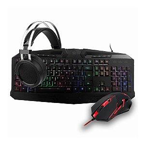 Kit Gamer Redragon Mouse Centrophorus + Teclado Harpe RGB + Headset Scylla + Mousepad Archelon S112