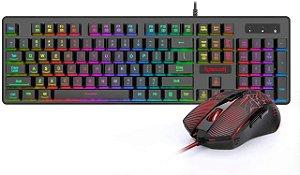 Kit Teclado + Mouse + Mousepad S107 Redragon