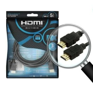 Cabo Hdmi 2.0 Blindado Ethernet 5m Pix