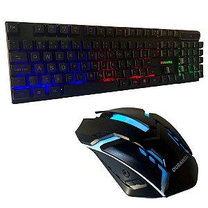 Kit Teclado e Mouse 1600 dpi Gamer Dw-300 Durawell