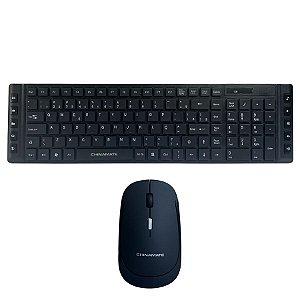 Kit Teclado ABNT2 com e Mouse 1600dpi sem fio Chinamate