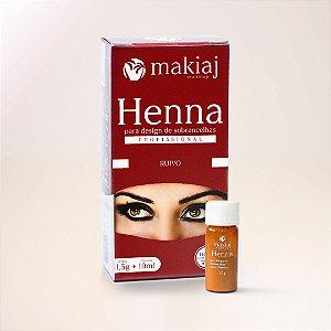 henna para sobrancelha makiaj - ruivo
