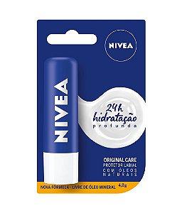 protetor labial nivea - original care