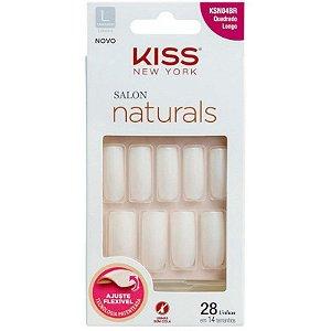unhas kiss new york salon naturals ajuste flexivel - quadrado longo