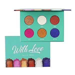 paleta de sombra whith love  6 cores - my life