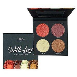 paleta de iluminador whith love 4 cores - my life