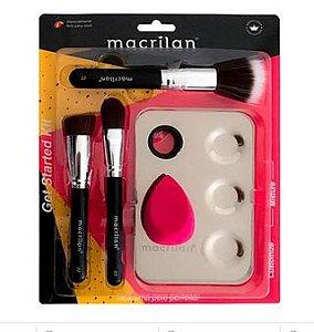Kit 3 Pincéis + Placa Inox Mistura Maquiagem Macrilan KP10-1