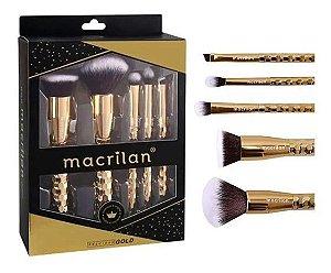 Kit de Pincéis Macrilan Precious Gold Profissional - ED006