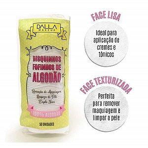 Discos De Algodão Para Limpeza Facial Dalla Makeup