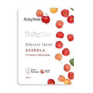 mascara facial de tecido acerola skin ruby rose