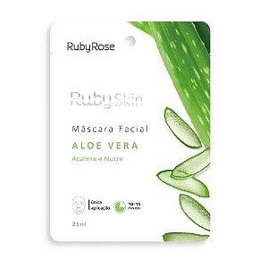 Máscara Facial de Tecido Aloe Vera Skin Ruby Rose