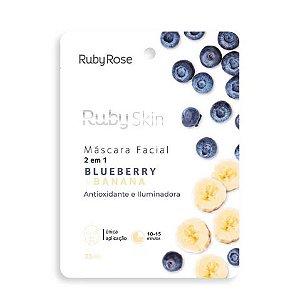 Máscara Facial de Tecido Blueberry Skin Ruby Rose