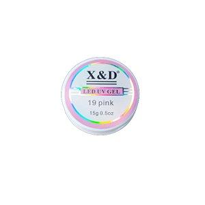Gel Para Alongamento de Unhas X&D 19 Pink