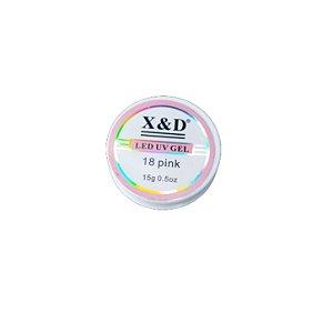 Gel Para Alongamento de Unhas X&D 18 Pink