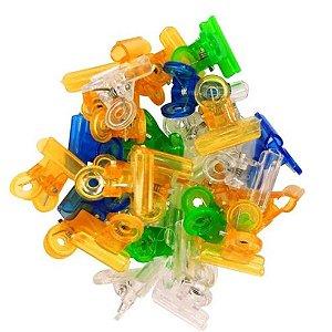 Kit de Presilhas Para Alongamento de Unhas 2,2cm de Acrílico Colorido