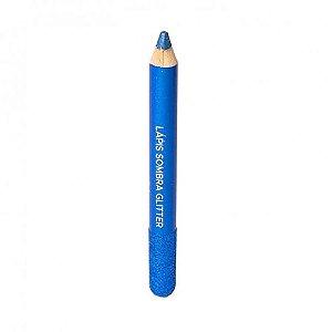 Lápis Sombra Glitter Azul Escuro (8) Dapop