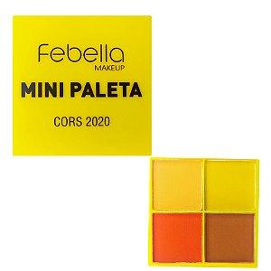 Mini Paleta De Sombras Febella Amarela