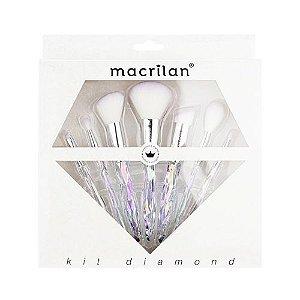 Kit de Pincéis Diamond ED003 Macrilan