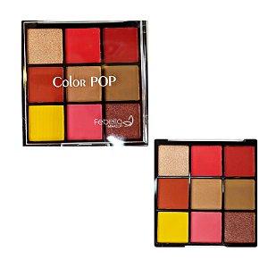 Paleta De Sombras Color Fe Bella Cor 3