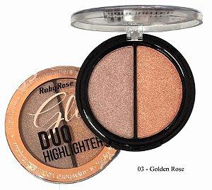 Iluminador Glow Duo Highlighter Cor 3 Golden Rose