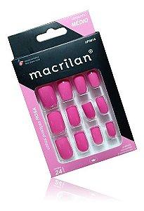 unha postiça macrilan -medio cor rosa