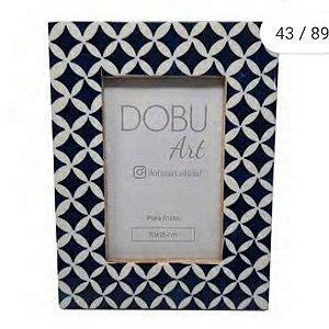 Porta Retrato Resina Azul Abstrato 15x10